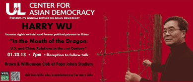 UofL Center for Asian Democracy Harry Wu, human rights activist and former political prisoner in China,