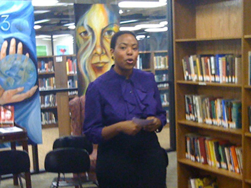 African American Woman speaking