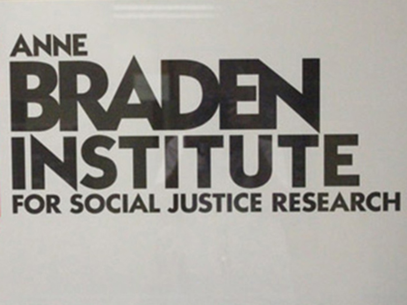 sign Anne Braden Institute for Social Justice Research