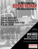 Anne Braden Institute 10th Anniversary and Beyond Vietnam 50th Anniversary read-in
