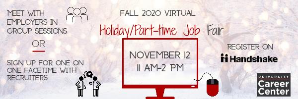 Part-Time Holiday Job Fair