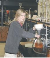 Gretchen in the lab