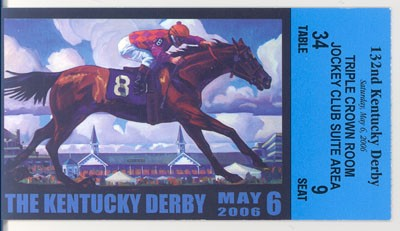 Derby Ticket 2006