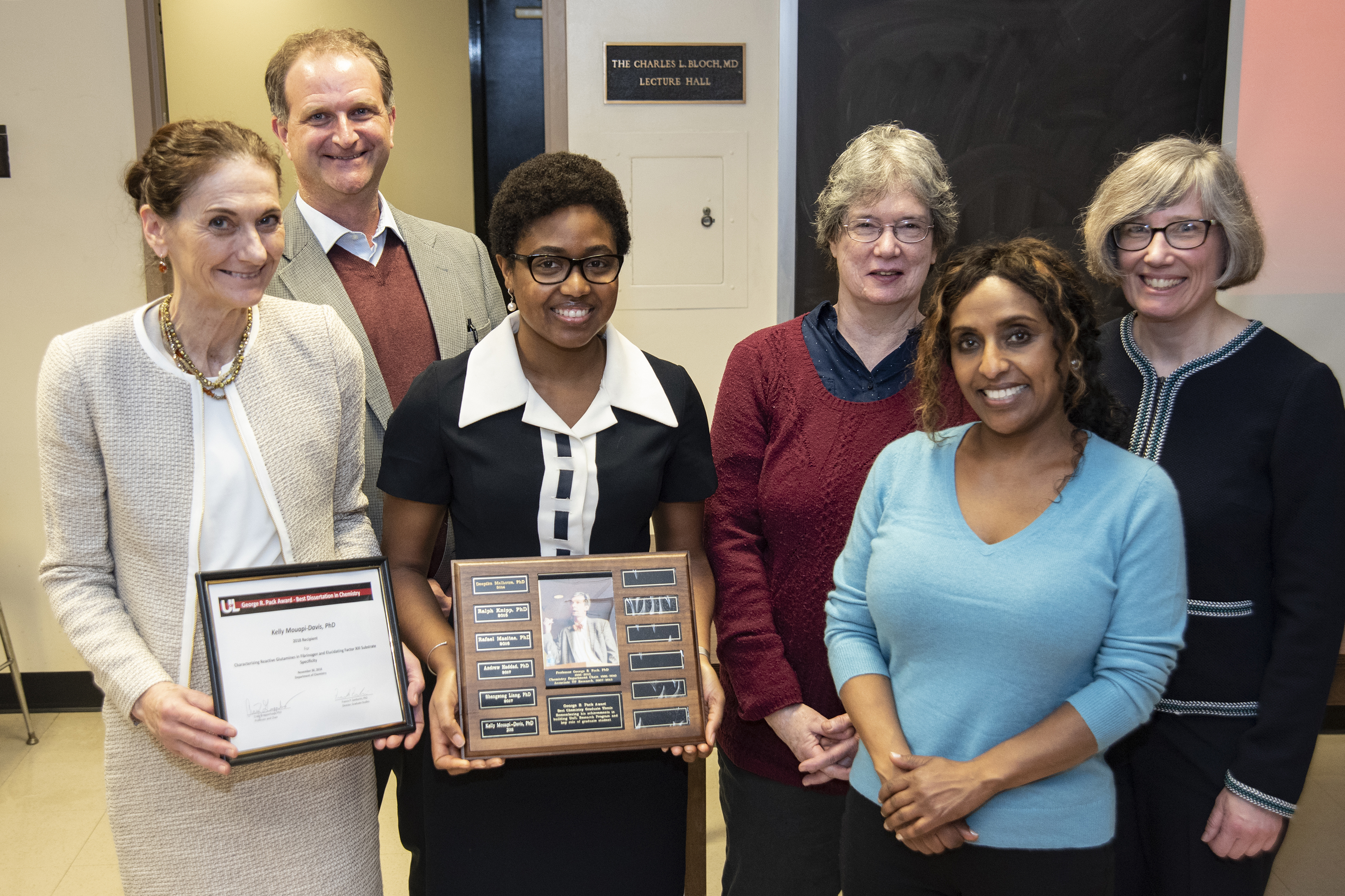 2018 George R. Pack Award for Most Outstanding Chemistry Ph.D. Dissertation