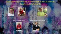 2021 Chemistry Award Winners of the College of Arts & Sciences Faculty and Staff Awards