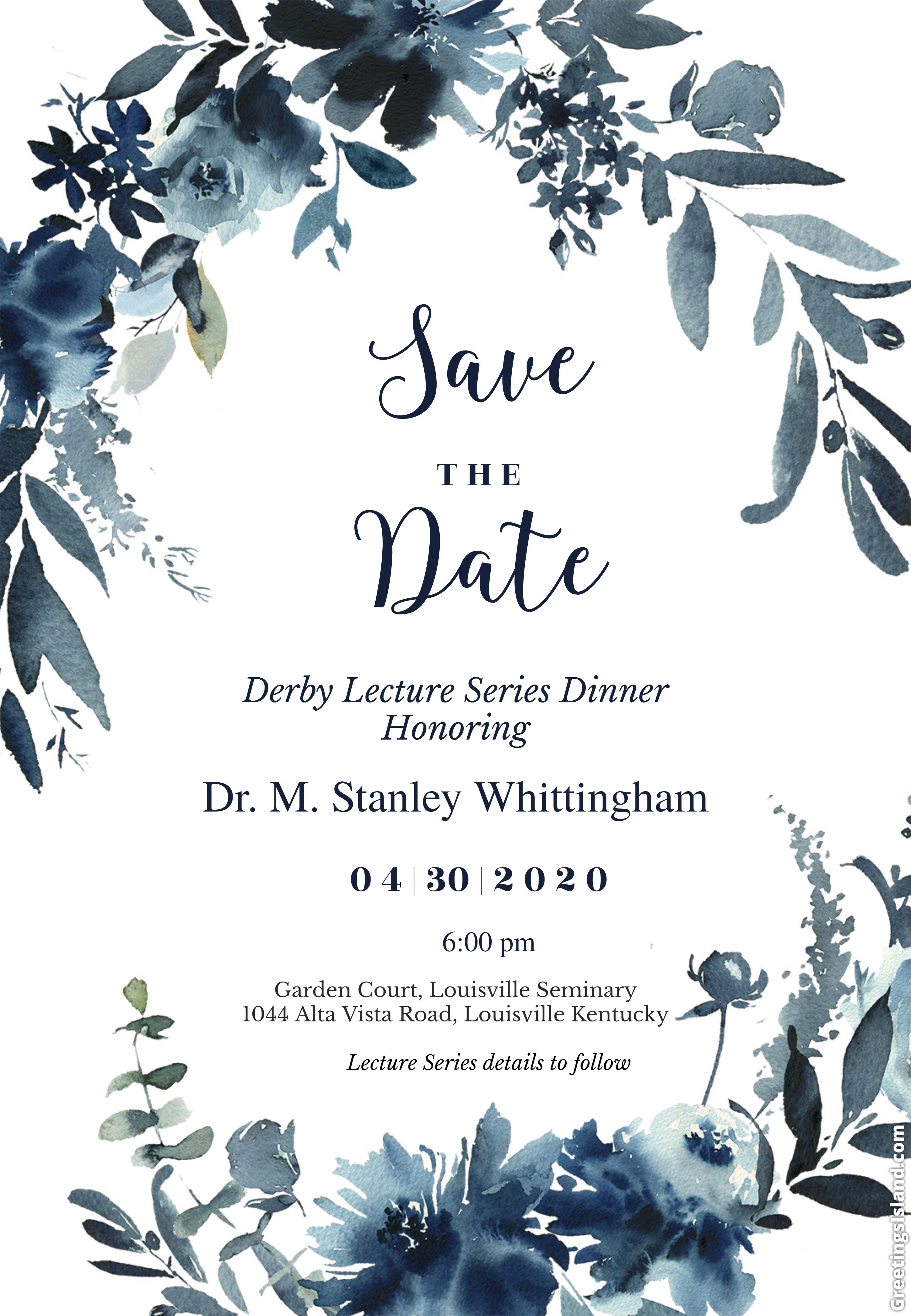 Derby Lecture Series Dinner