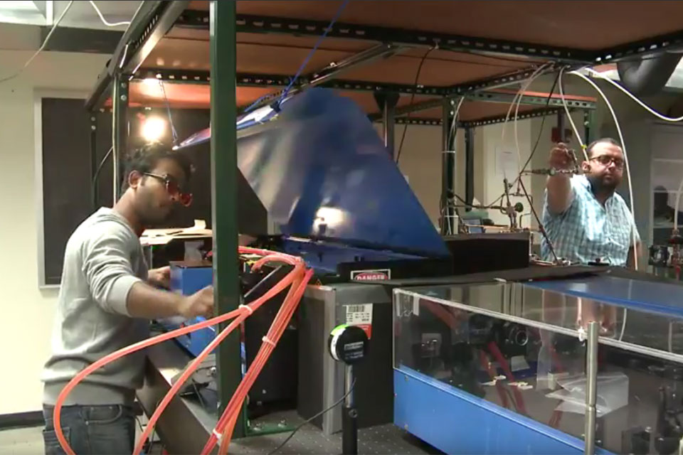 WHAS featured UofL Department of Chemistry's Laser Labs