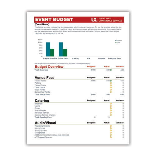 Free Event Budget Template Make Planning Your Event Budget Easy Event And Conference Services
