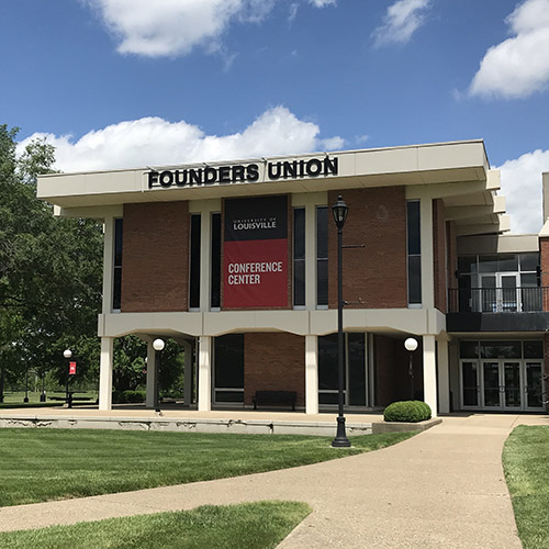 Exterior of Founders Union building at the University of Louisville Conference Center at ShelbyHurst Campus