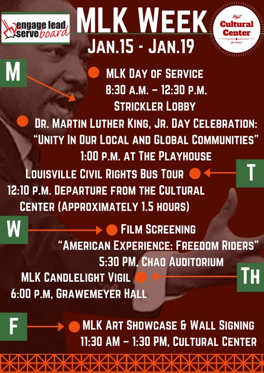 uofl mlk week 2018 university of louisville martin luther king week 2018