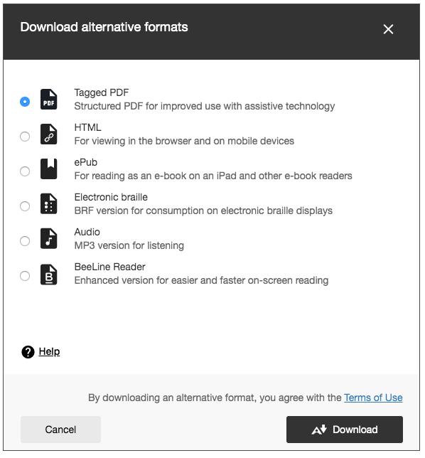 Ally blackboard Alternative Formats Image