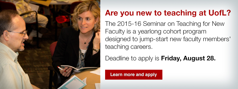 2015-16 Seminar on Teaching for New Faculty