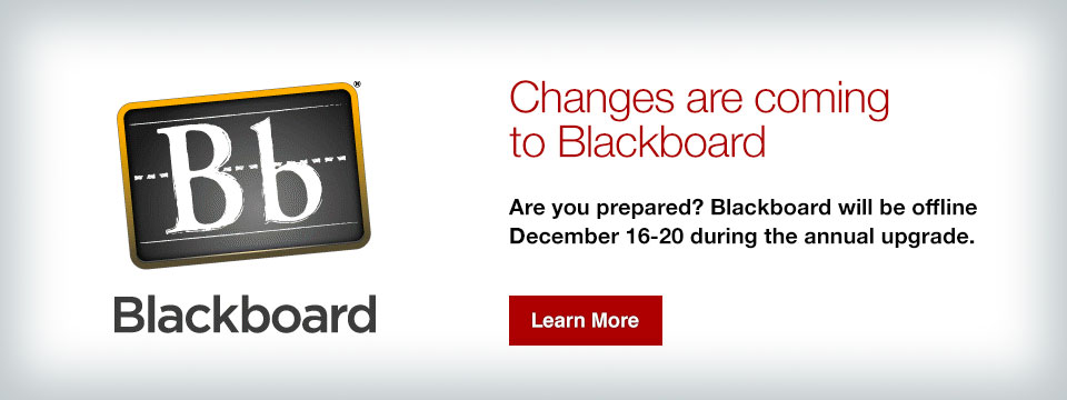 Changes are coming to Blackboard