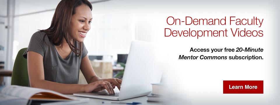 On-demand faculty development videos