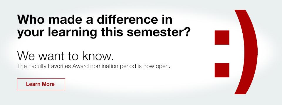 Nominate Your Favorite Educator