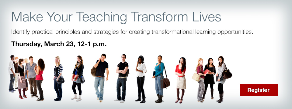 Make your teaching transform lives