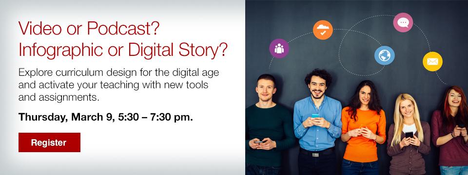Explore curriculum design for the digital age
