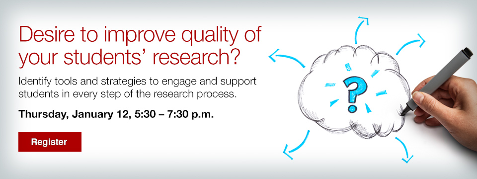 Improve the quality of your students' research