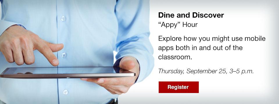 Dine & Discover, Appy Hour