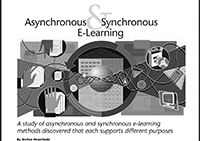 Asynchronous and synchronous e-learning