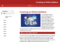 Creating an Online Syllabus Module