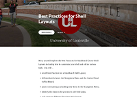 Best Practices for Shell Layout