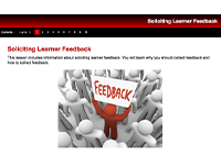 Develop feedback opportunities instructional module