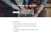 Instructor's Role in an Online Course