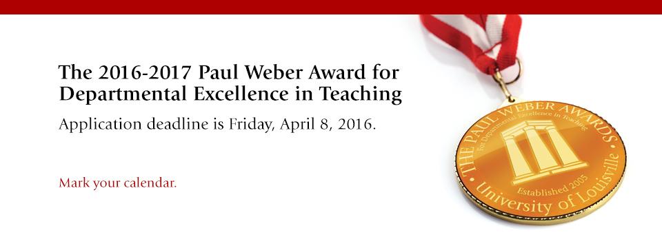2016-2017 Paul Weber Award