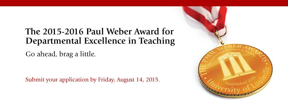 2015-2016 Paul Weber Award