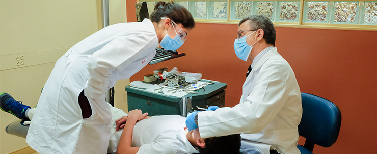 Patient receiving orthodontic care at the University of Louisville School of Dentistry