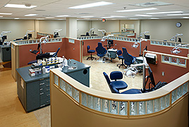 Image of a dental clinic at the University of Louisville School of Dentistry