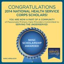 Congratulations to our National Health Service Corps Scholars