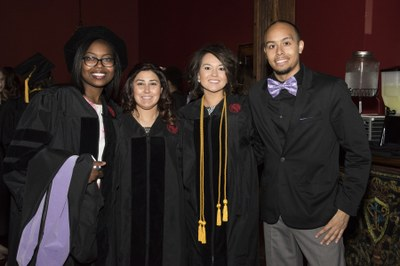 Dental school graduates at convocation