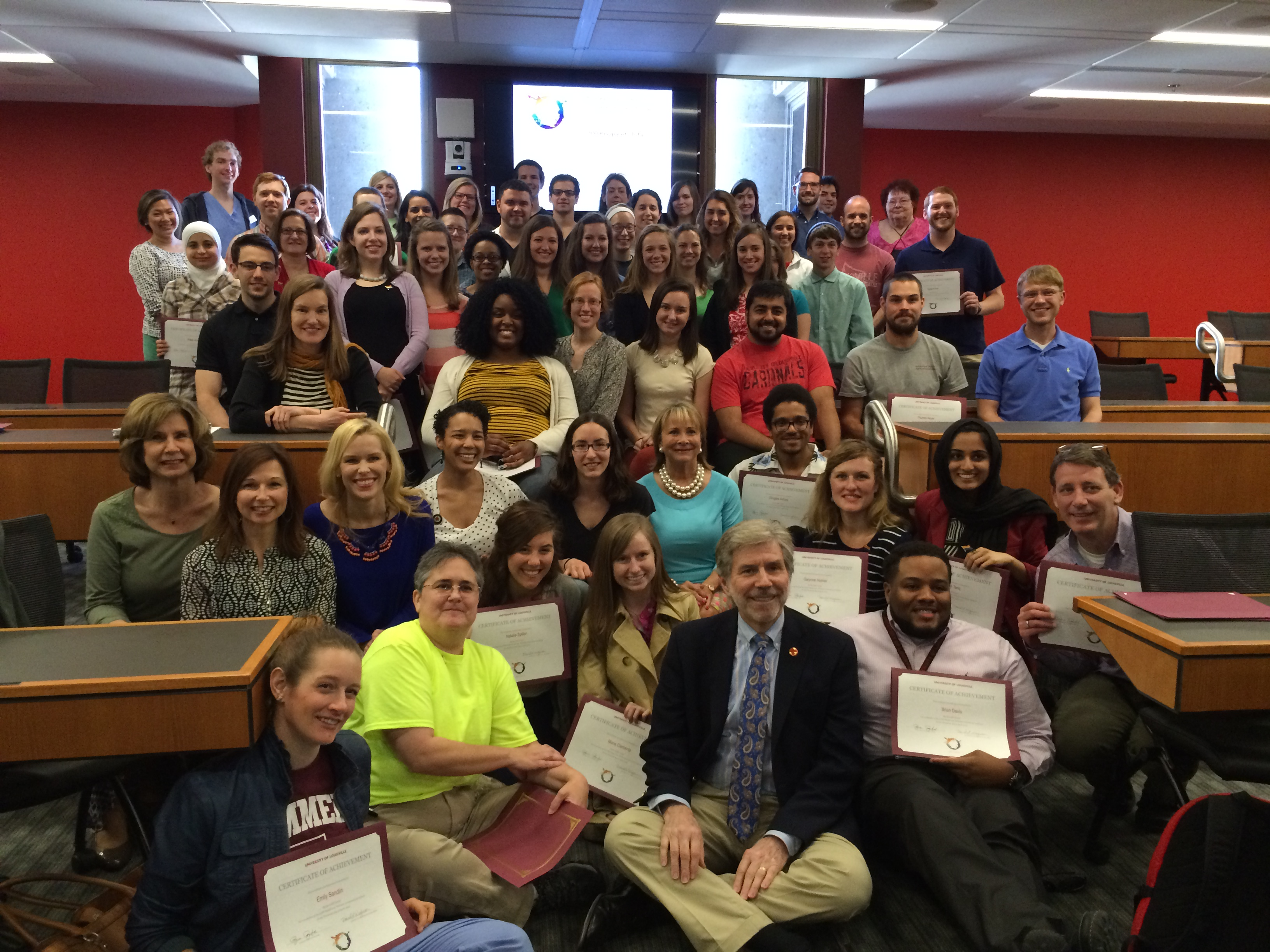 LGBT Health and Wellness certificates presented to 102 students, faculty and staff
