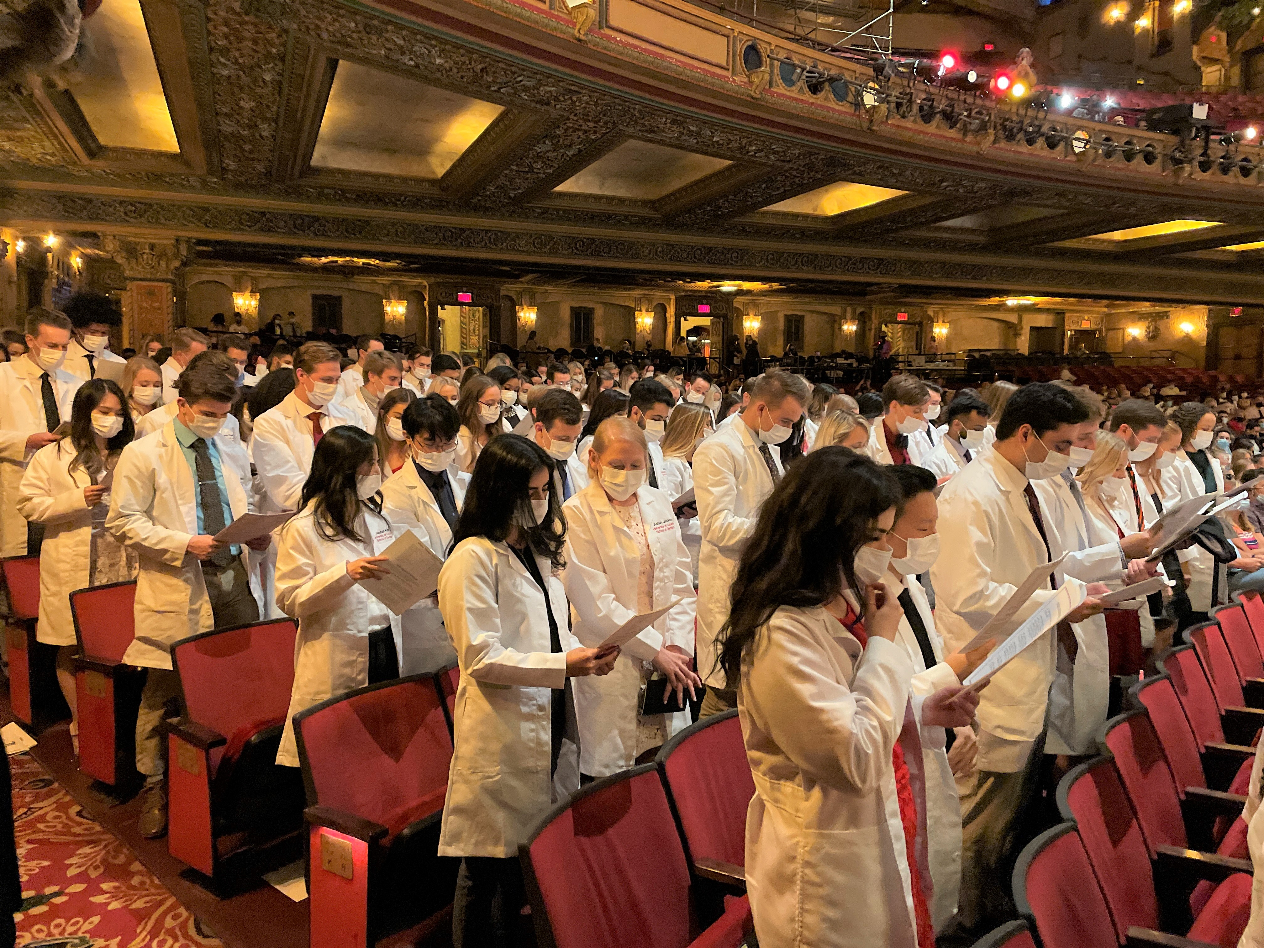 Future dentists and hygienists mark their entry into the profession at White Coat Ceremonies