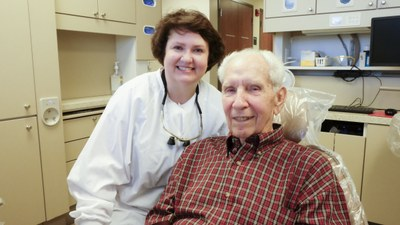 Perio patient with Dr. Hill