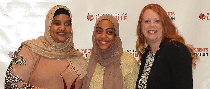 Farhiya Abasheikh (left), Shukri Abdow (center), Angela Taylor (right)