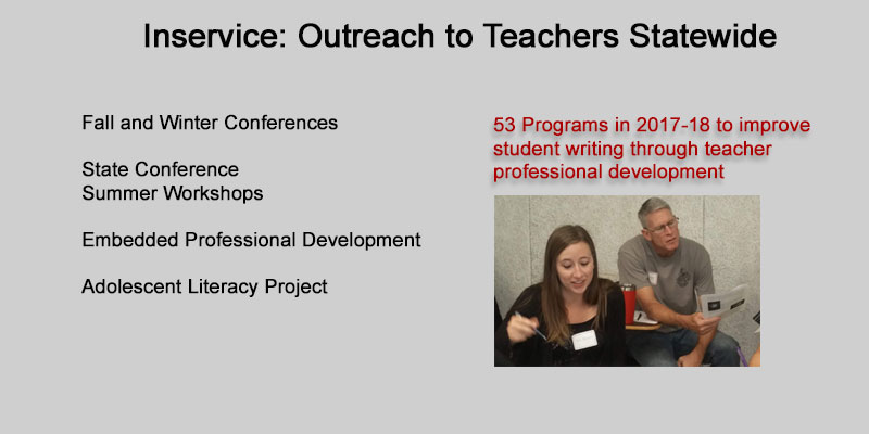 Inservice: Outreach to Teachers Statewide
