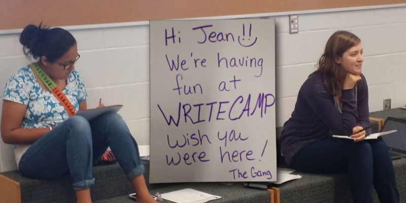 Write Camp Banner