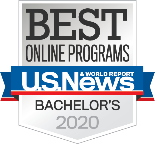 US News Online Bachelors Education badge