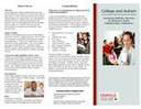 College and Autism Brochure