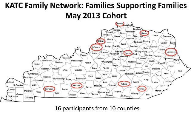 KY Family Network map