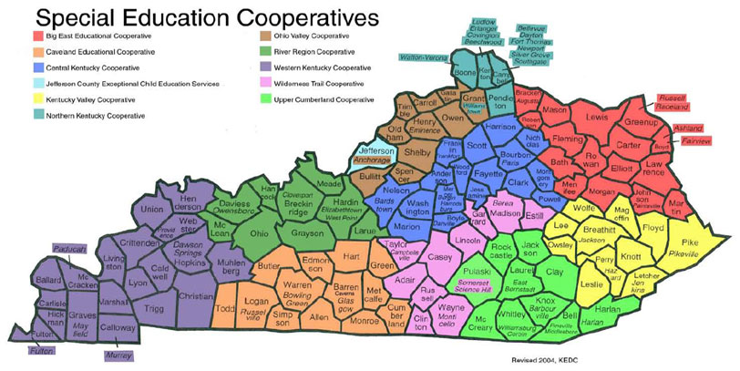 Collaborative For Teaching And Learning Louisville Ky : Map of eastern kentucky counties bnhspine