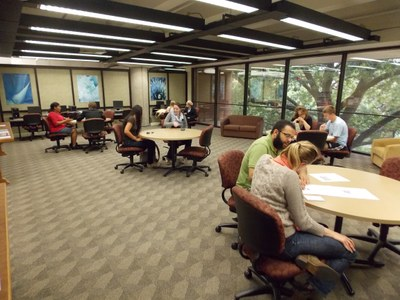 Students work with individual writing consultants (Graduate GTAs) at the University Writing Center.