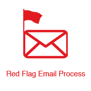 red flag decorative icon
