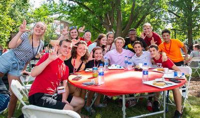 Students at Alumni Picnic
