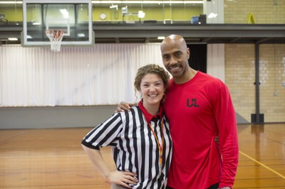 Stephanie Weldy and Darrell Griffith