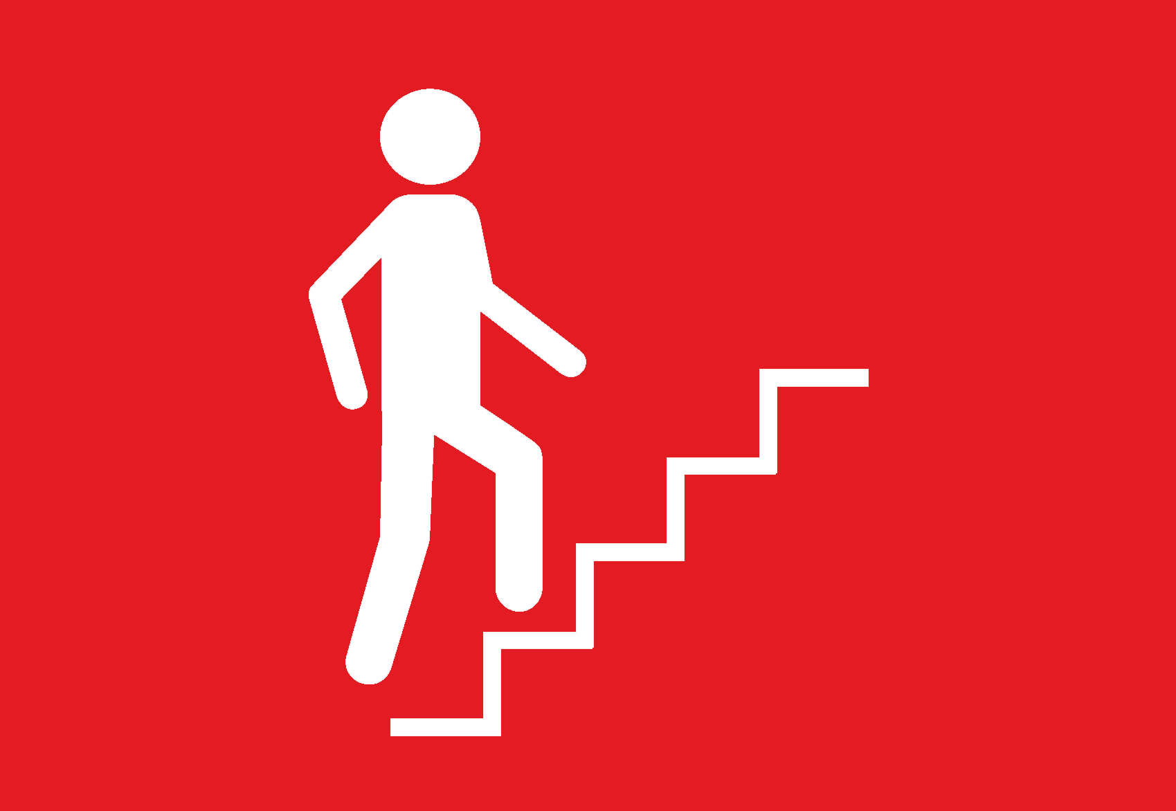 Take the Stairs — Get Healthy Now for Climbing Stairs To Success  568zmd