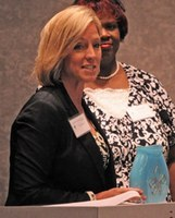 Patricia Benson receives the 2010 Veteran Worksite Wellness Award